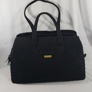 Vera Bradley Black Quilted Shoulder Travel Bag